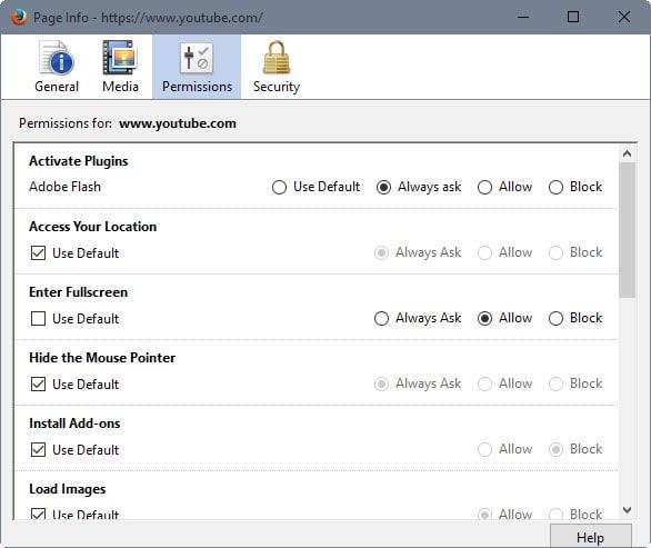 Firefox full screen permission