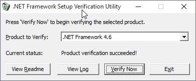 net framework setup verification tool