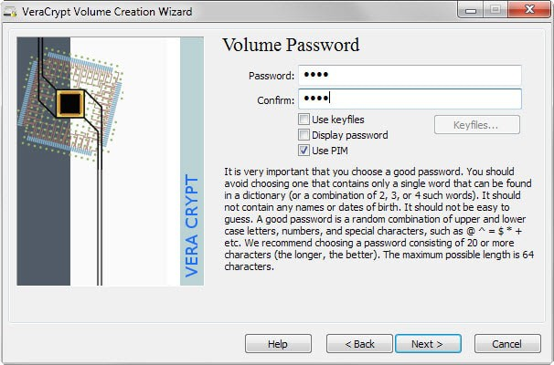 veracrypt pim feature