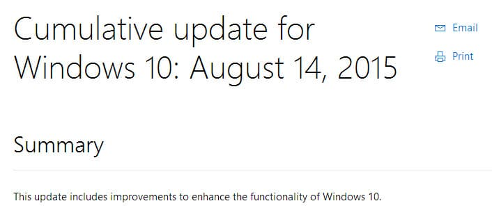 windows cumulative update