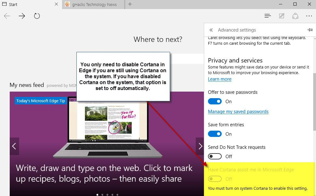 Improve your privacy in Microsoft Edge with these settings