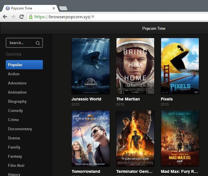 browser popcorn
