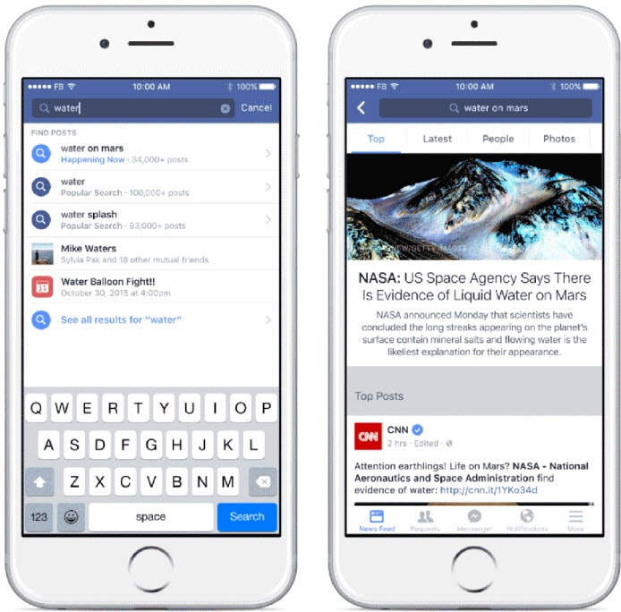 Facebook's Search FYI makes all public user posts available