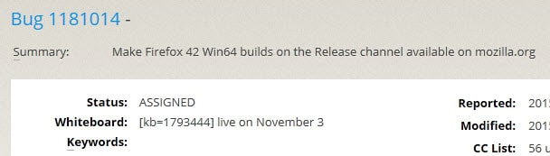 firefox 64-bit windows stable