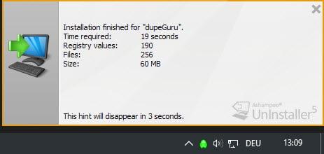 installation monitoring result