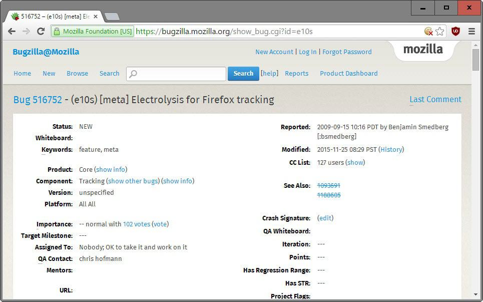 Firefox Electrolysis (multi-process) won't come out this year