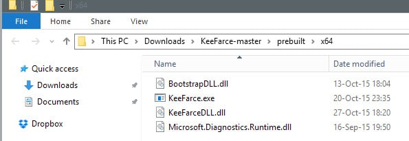 KeeFarce extracts KeePass information straight from memory