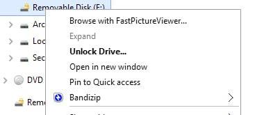 unlock drive