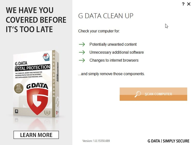 g data clean up tool