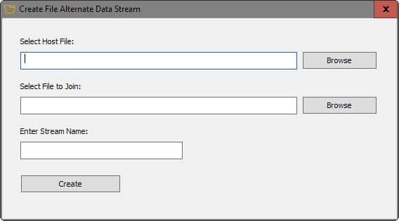 create alternate data stream
