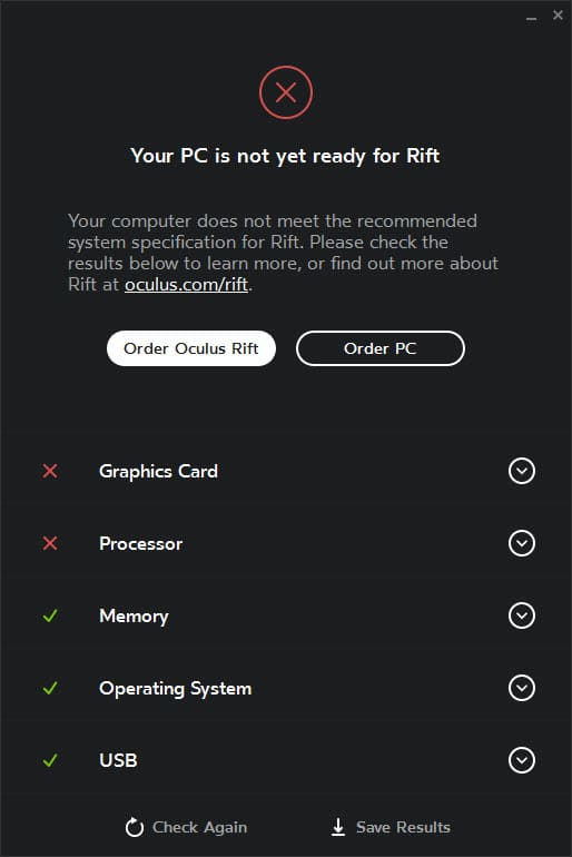 Find out if your PC is Oculus Rift ready