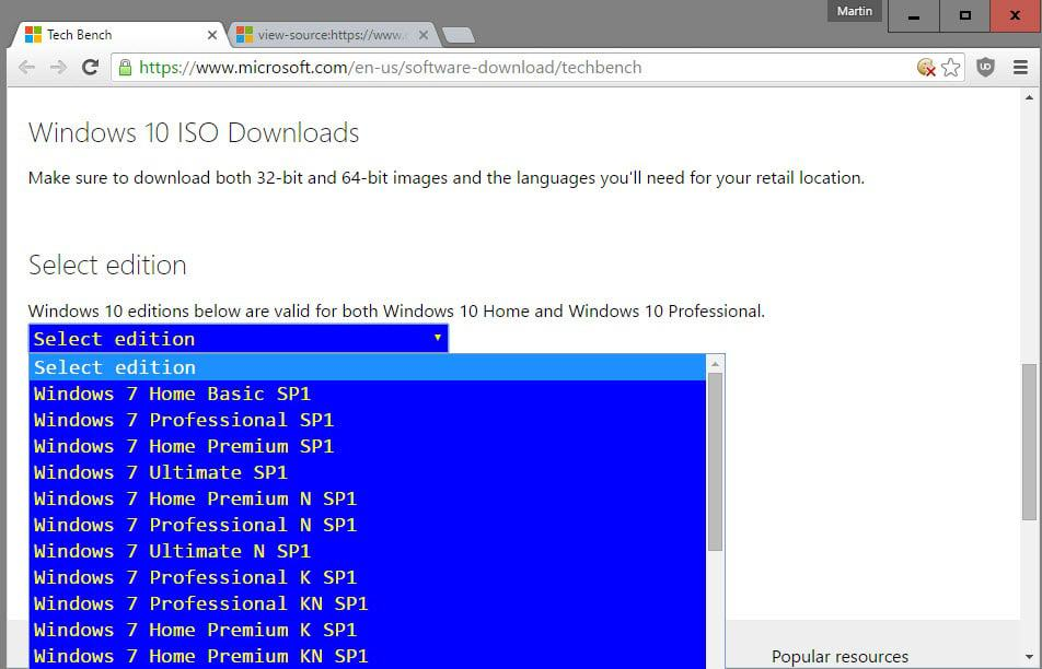 Download Windows 7 and 8.1 ISO Images from Microsoft