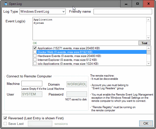 Logwizard is a powerful windows log viewer software news for Window load event