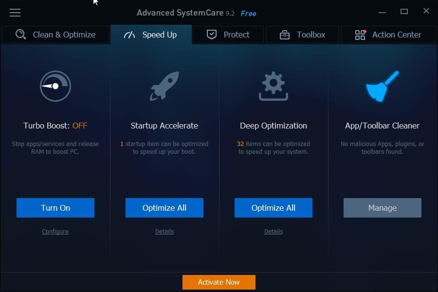 advanced systemcare speed up
