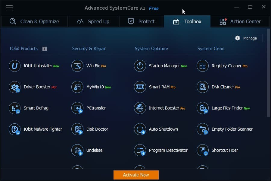 advanced systemcare toolbox