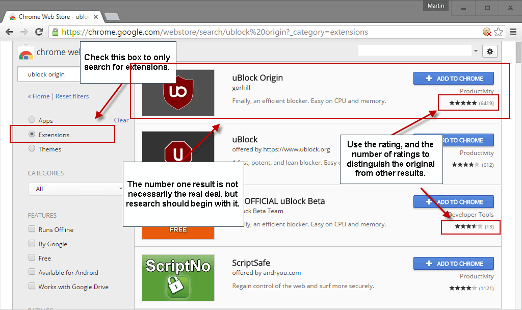 fake chrome extensions