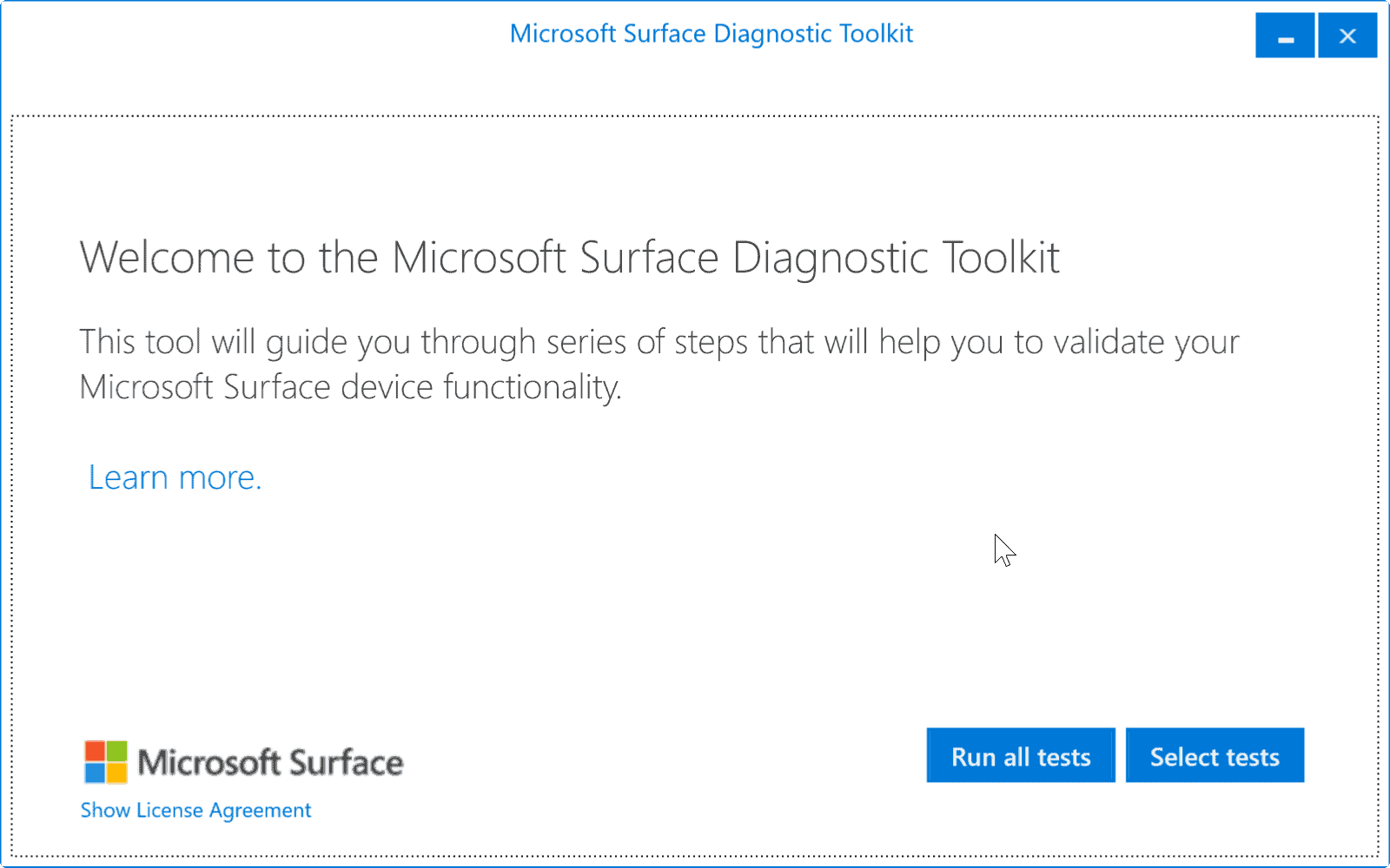 microsoft surface diagnostic toolkit ghacks tech news. Black Bedroom Furniture Sets. Home Design Ideas