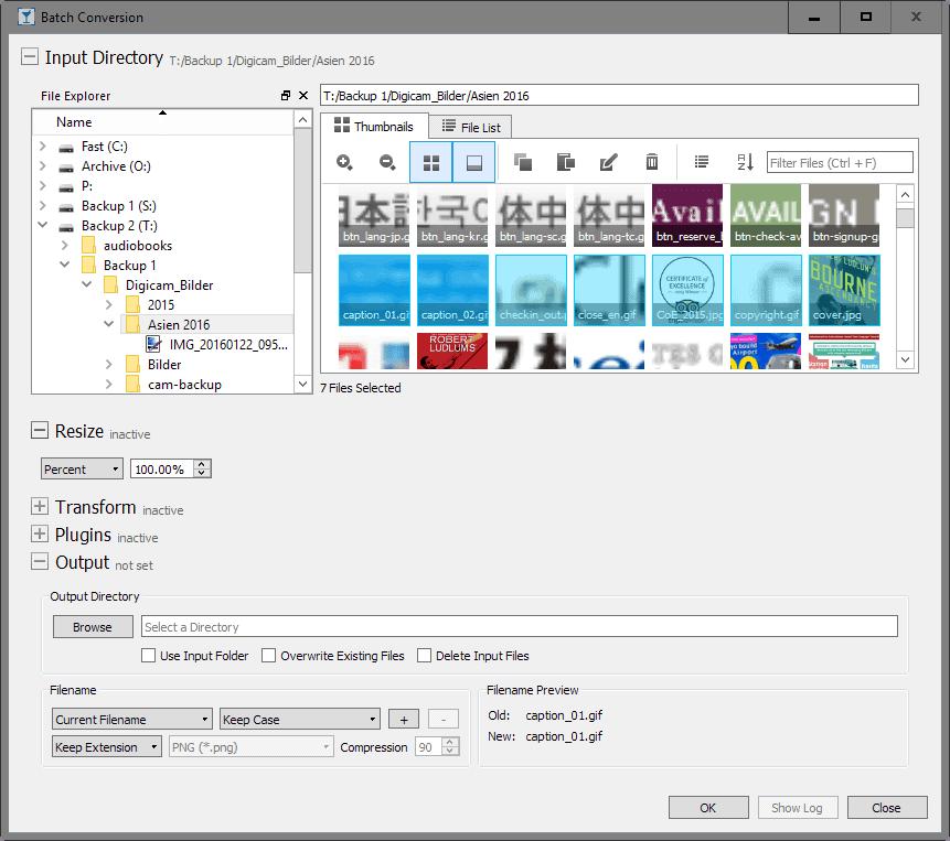 nomacs batch editing