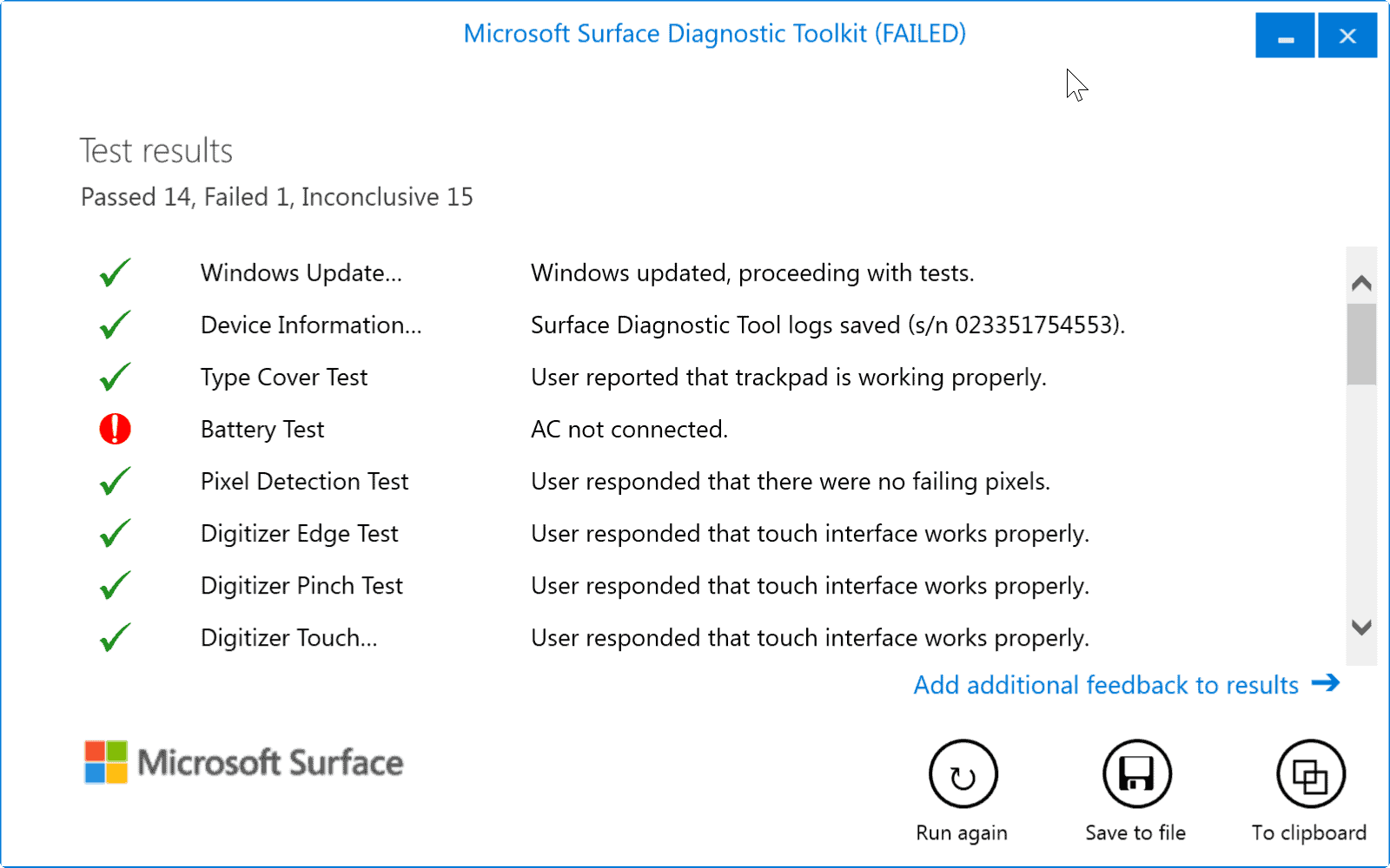 Microsoft Surface Diagnostic Toolkit « WTI NewsBlog