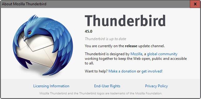 thunderbird 45.0