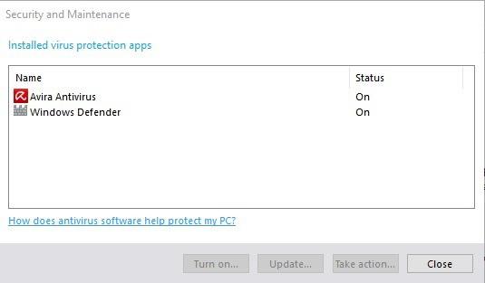 antivirus security maintenance