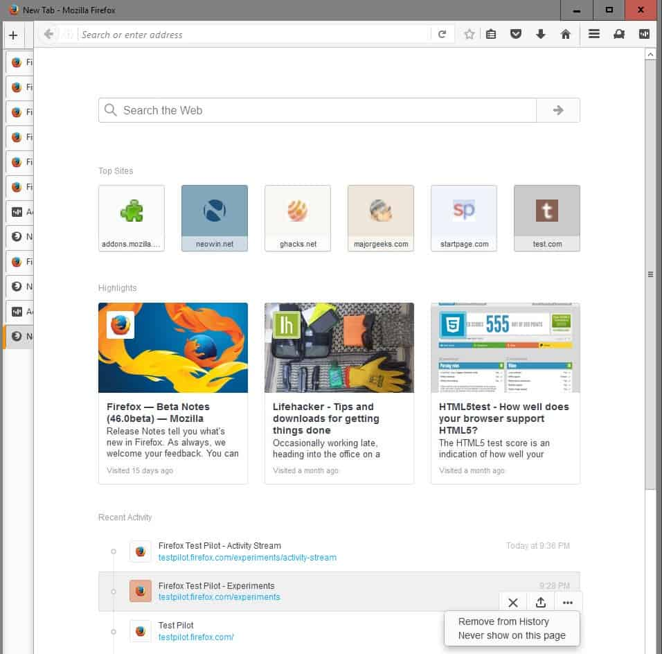 Mozilla launches Firefox Test Pilot - Browser engine
