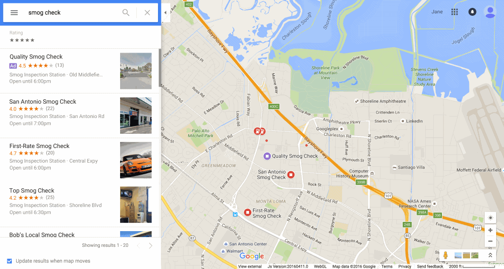 Local Search Ads on Google Maps