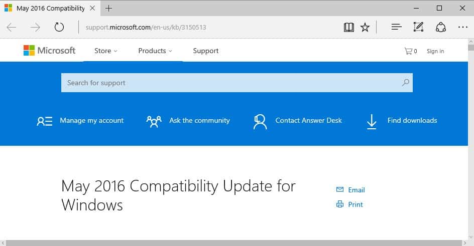 KB3150513 is another Windows 10 update patch