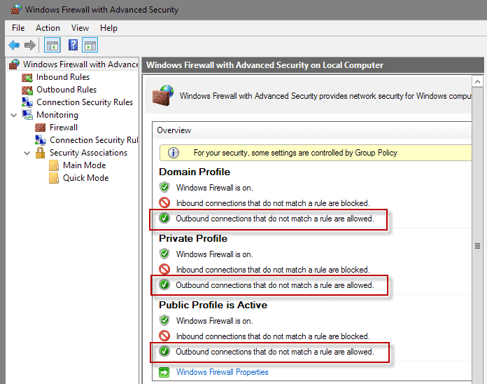 windows-firewall outbound connections