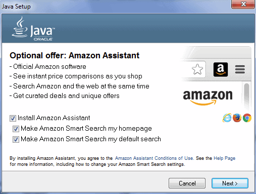 amazon assistant java