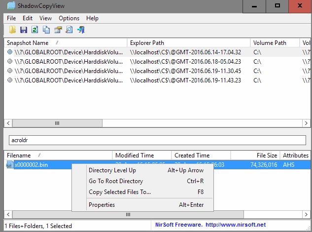 copy files shadow copy