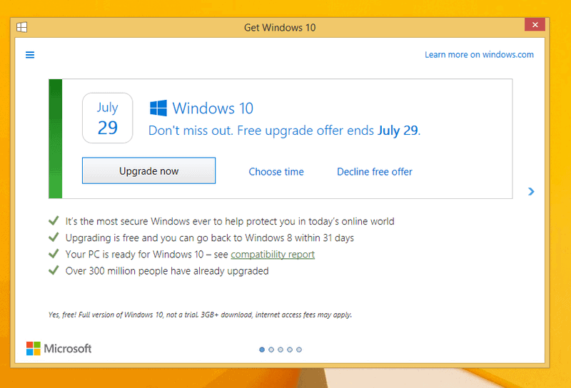 decline windows 10