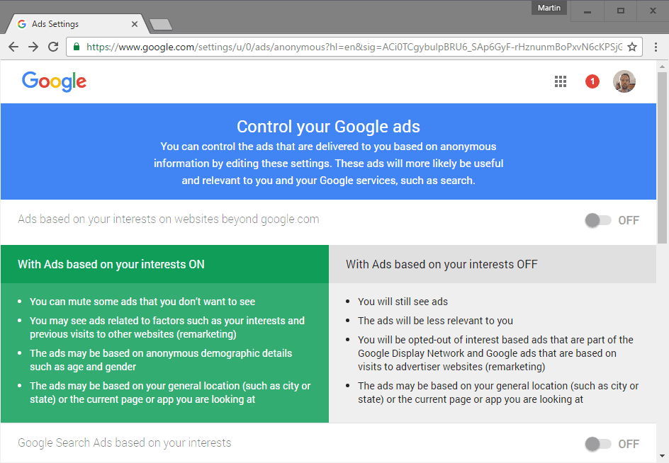 google control ads