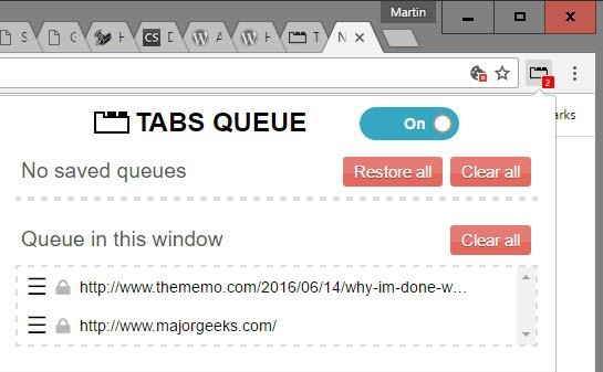 tabs limiter with queue