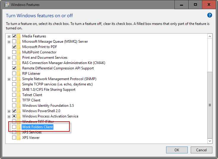 work folders client
