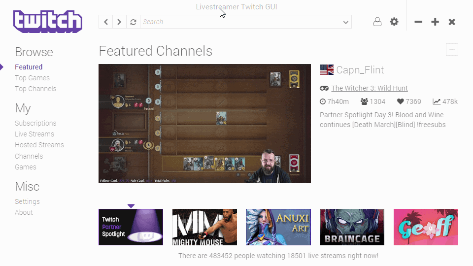 A resource-friendly way to stream Twitch.tv content