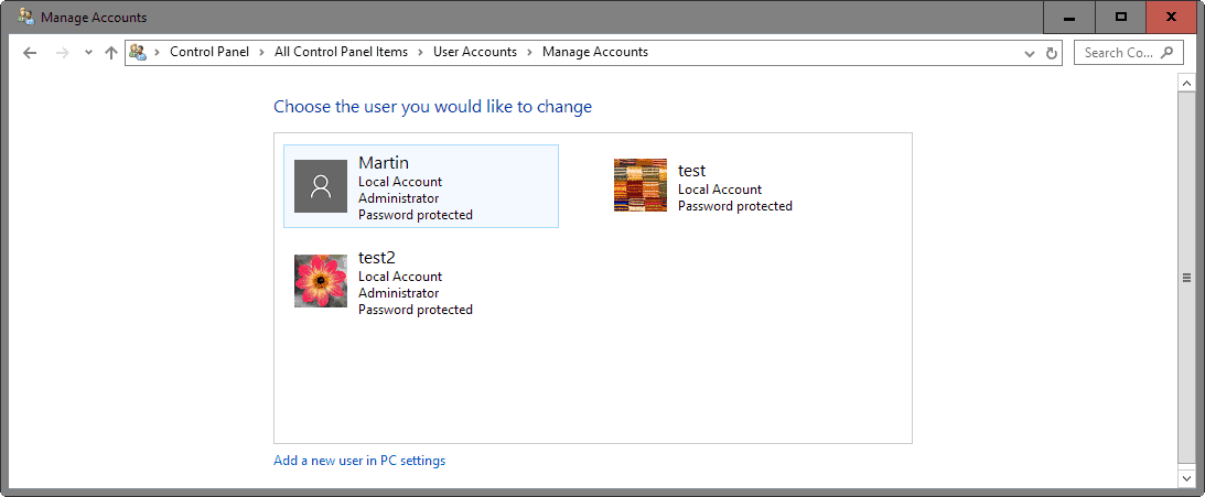 windows 10 all accounts