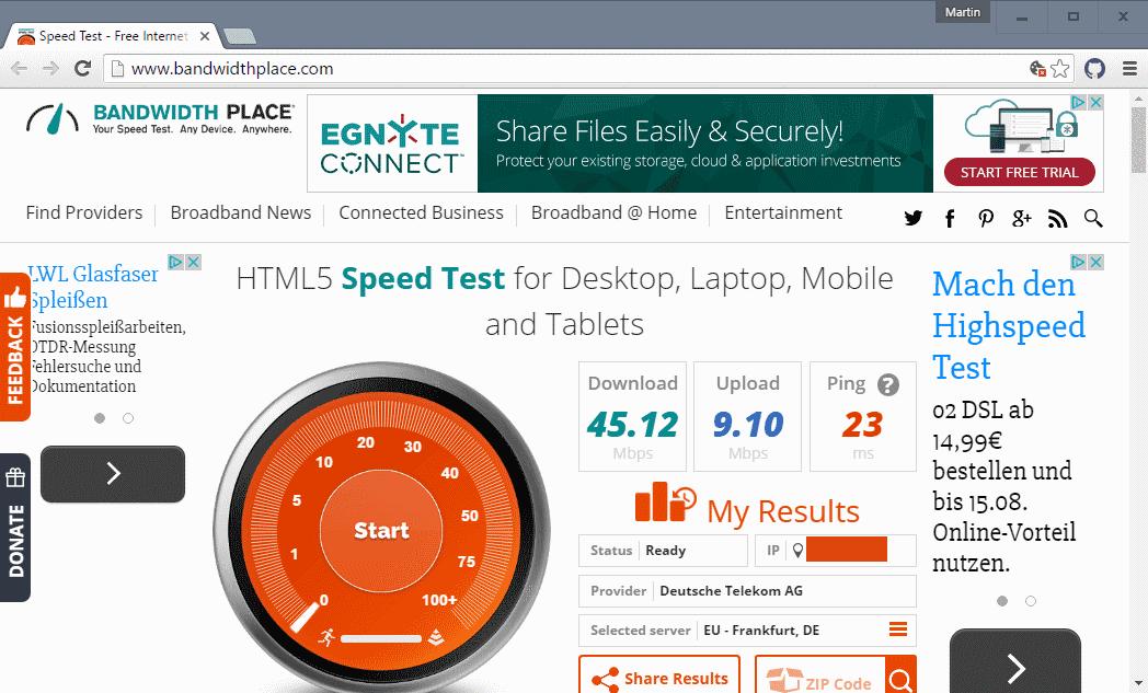 bandwidth place