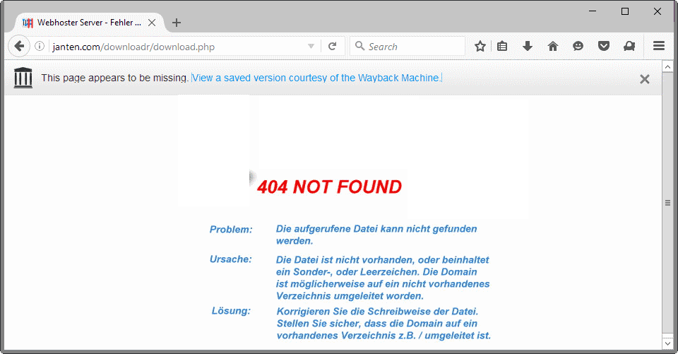 Firefox's latest Test Pilot: No More 404s
