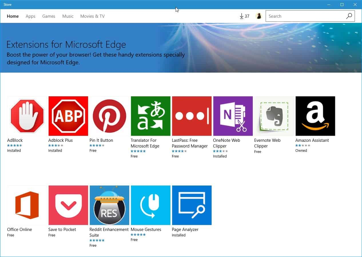 install microsoft edge extensions
