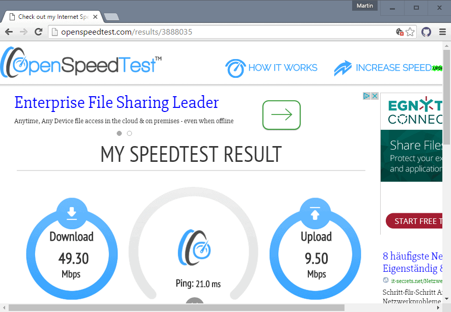 open speed test