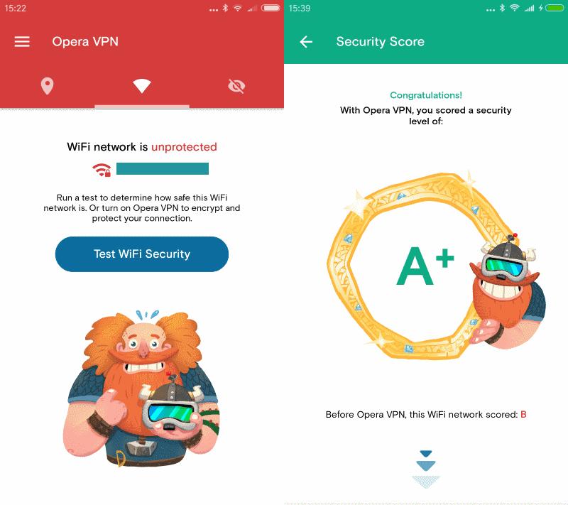 opera vpn wi-fi security