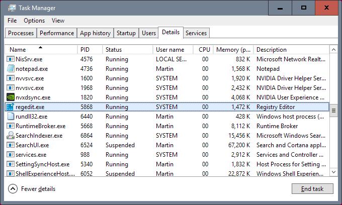 registry as system