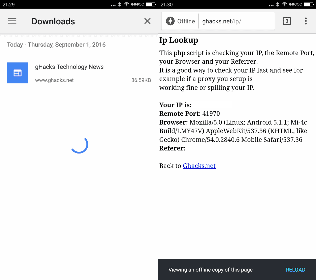 Chrome for Android gets page download option