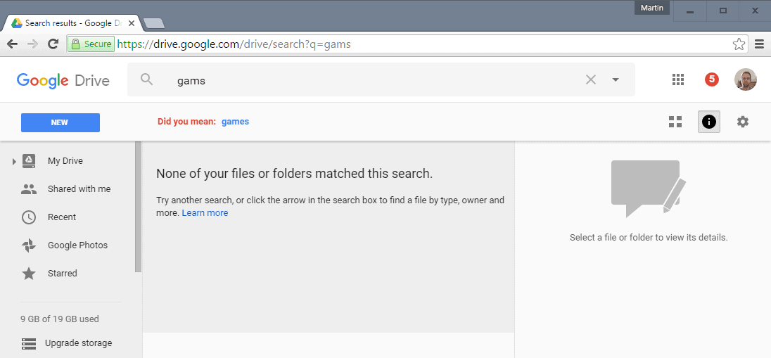 Google Drive Search and Docs improvements