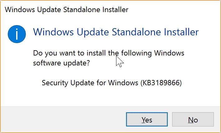 windows update stuck kb3189866