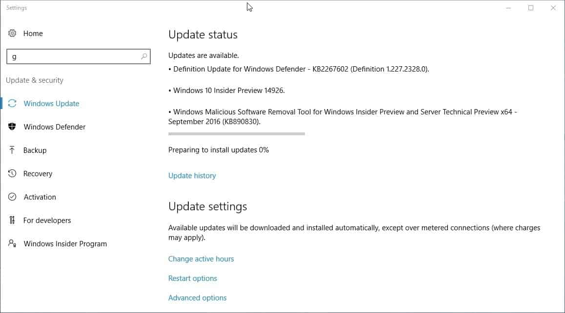 windows10 insider preview 14926