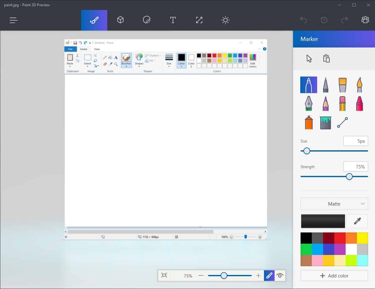 Microsoft Paint vs Paint 3D Comparison