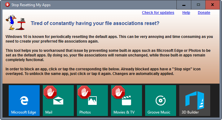 stop default apps reset