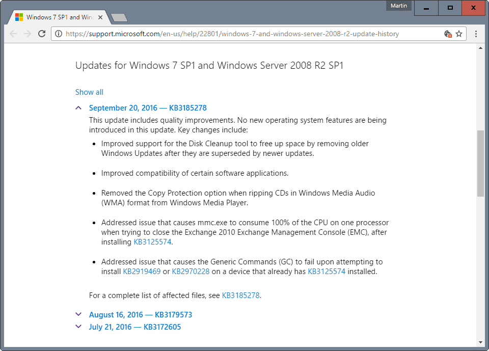 windows 7 8 october patch day changes